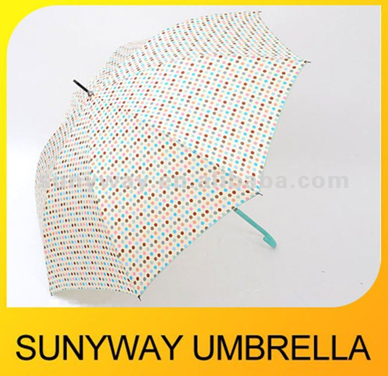 Beautiful Auto Straight Umbrella for Sun