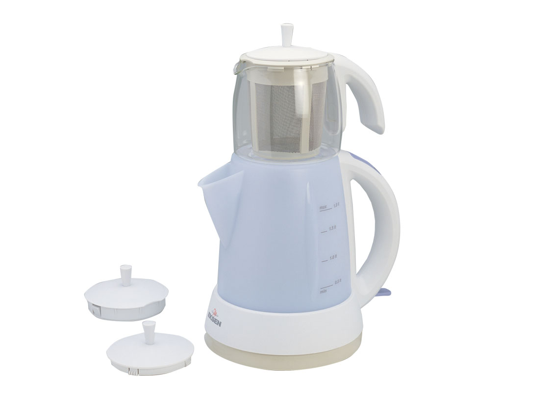 Electric Tea-Maker with Plastic Body / Glass Teapot