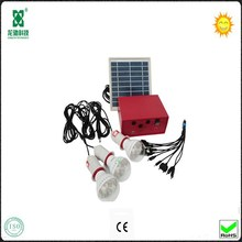 4W Solar Panel Mini Home Lighting System With Mobile Charger