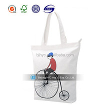 2017 OEM production Promotional customized blank cotton tote bags plain cotton bag for shopping