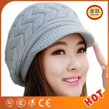 Man Animal Ears Long Knitted Hat Scarf Mitten Set