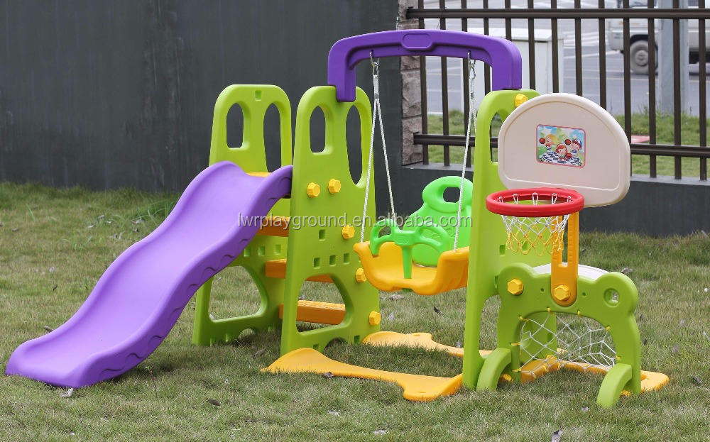 Kids Plastic <strong>Slide</strong> With Swing For Sale