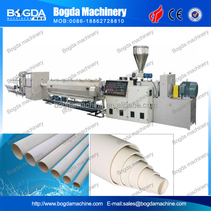 Plastic PVC water supply service drain pipe extruder extrusion making machine