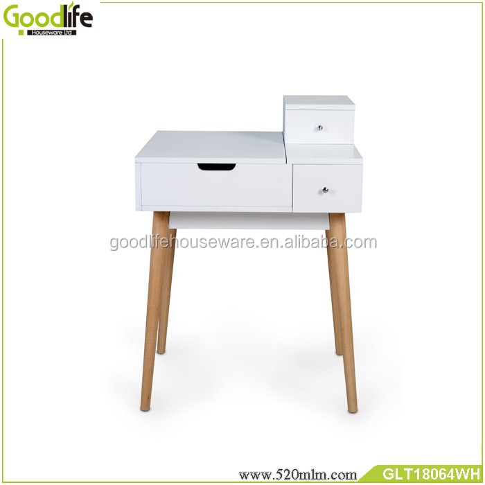 Perfect quanlity dressing table design with removable drawer in solid wood furniture