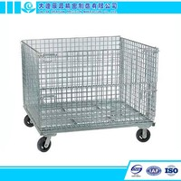 High Quality Warehouse Storage Cage with Wheels