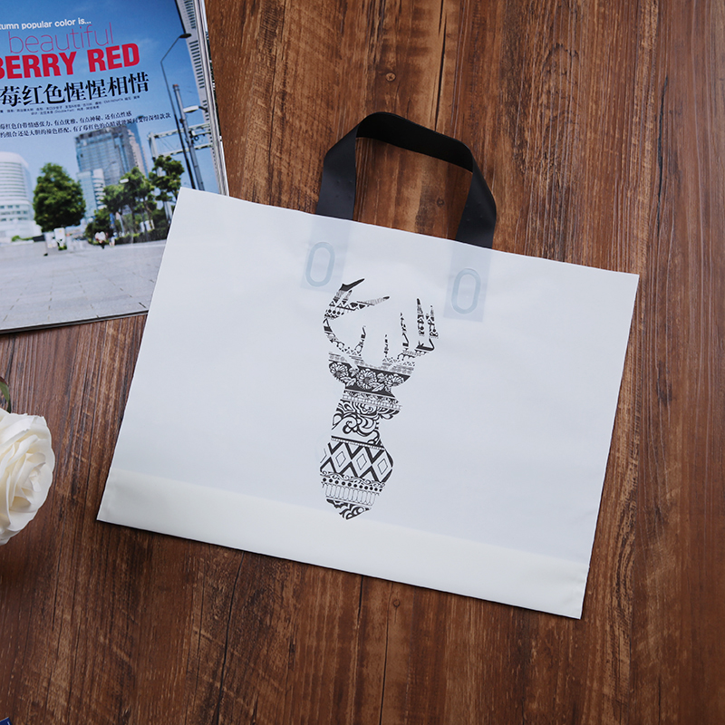 Custom design printed handle shopping plastic bags with own logo