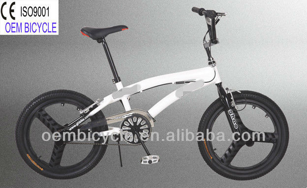 20 inch 2013 hot sale newest style favourite popular white freestyle BMX kids bike