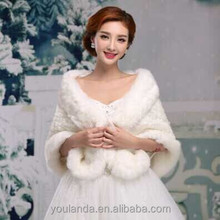 Fashion Styles Winter Fur Wedding Shawls 2015 Bridal Jacket