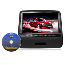 Promotional Price 9 Inches Headrest Hanged DVD Portable Auto Rear Seat Entertainment Car Monitor With Speaker