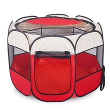 automatic pop up pet tent with eight panels