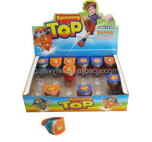 Line-throwing flashing spinning top toys