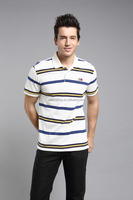 High quality custom men's clothing cotton dry fit cheap striped long sleeve t shrits cotton polo shirts