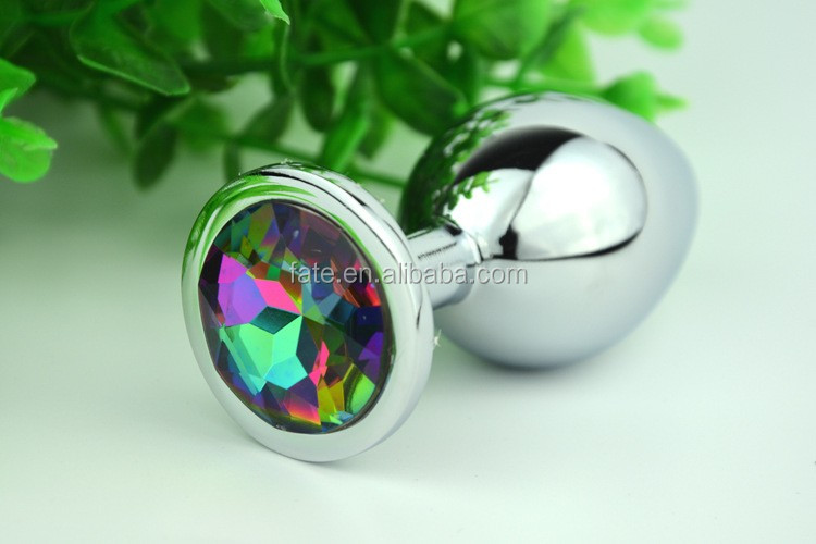 Coloured Diamond Jewelry anal sex toys stainless steel anal plug