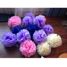 Wholesale Colorful decorate Tissue Pom Pom Paper Flower