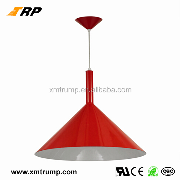 Red painting aluminum decorative hanging pendant modern big hall lighting