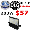 100W 200W 300W 5 years warranty DLC UL CE TUV high input high lumen outdoor LED flood light for gym playground