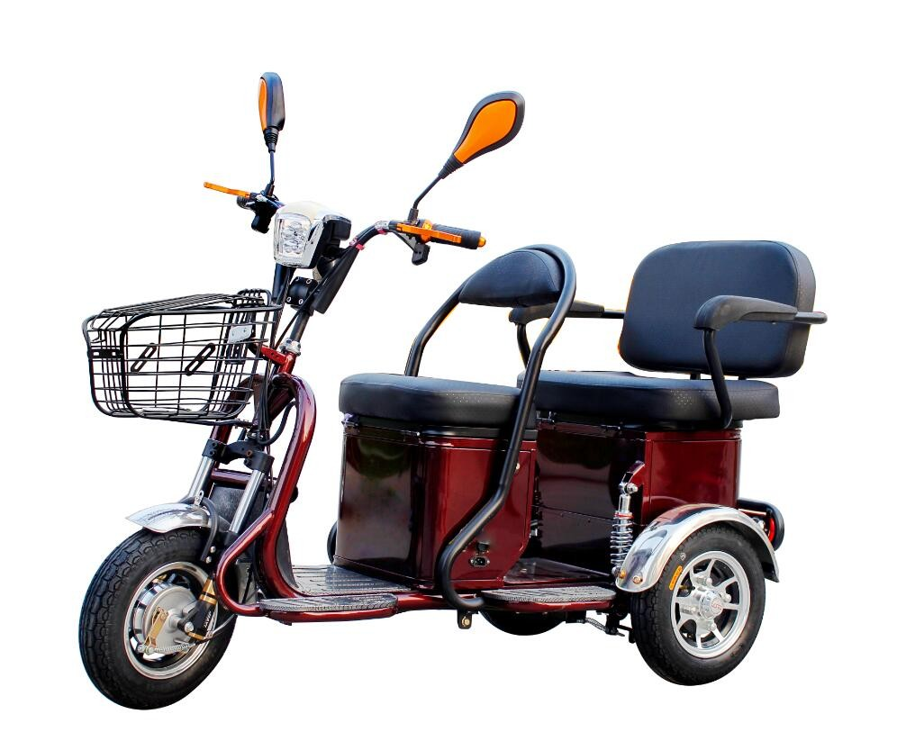 2016 New design low price Steed3500 three wheel electric scooter/electric tricycle