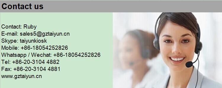 21.5 Inch Lcd Kiosk Restaurant Mobile Cell Phone Charging Station Digital Signage