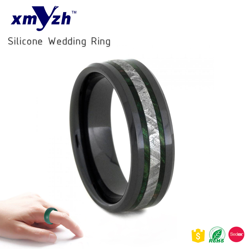 Man's <strong>Silicone</strong> Wedding Rings - Flexible Wedding Bands - Great for Sports or Outdoors