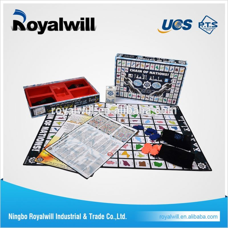 great race custom hot sells paper boardgame for fun