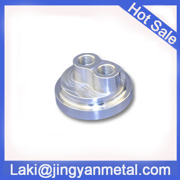 CNC machining billet hard anodized aluminium bypass adapter