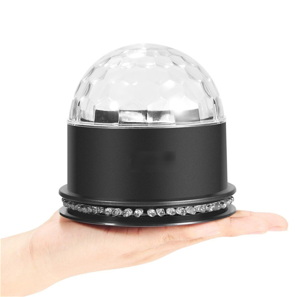 HT-039 8-15W voice magic ball lamp RGB Auto Sound Activated Mini Rotating Magic Ball Stage Lights