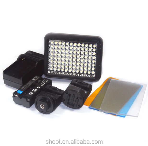 SHOOT XT-96 LED Video Camera Light Photographic Lighting Battery for Canon Nikon Pentax Panasonic DV