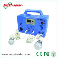 <Must Solar> Solar kit, Good performance 12V DC 30W Smart Power solar home lighting system/kit