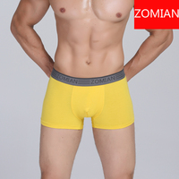 hot selling mens simple color boxer underwear with comfortable material