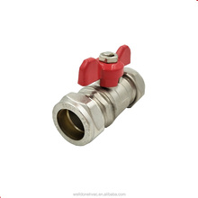 handle type ball valve pneumatic small brass ball valve for water air oil and gas brass ball valve factory in Yuhuan