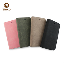 2017 high quality phone case velvet pu leather wallet mobile case for iphone7