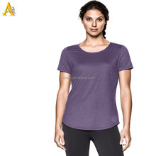 Latest new stlye women burnout t shirts wholesale loose t-shirt custom dry fit t-shirt casual wholesale fitness clothing