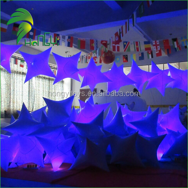 Colorful Inflatable Star/ Inflatable Light Balloon / Inflatable Ball With led Light