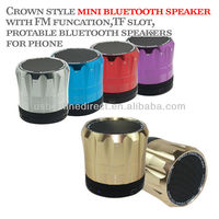 2014 Fashion protable mini buletooth speaker for laptop with FM card reader funcation purple