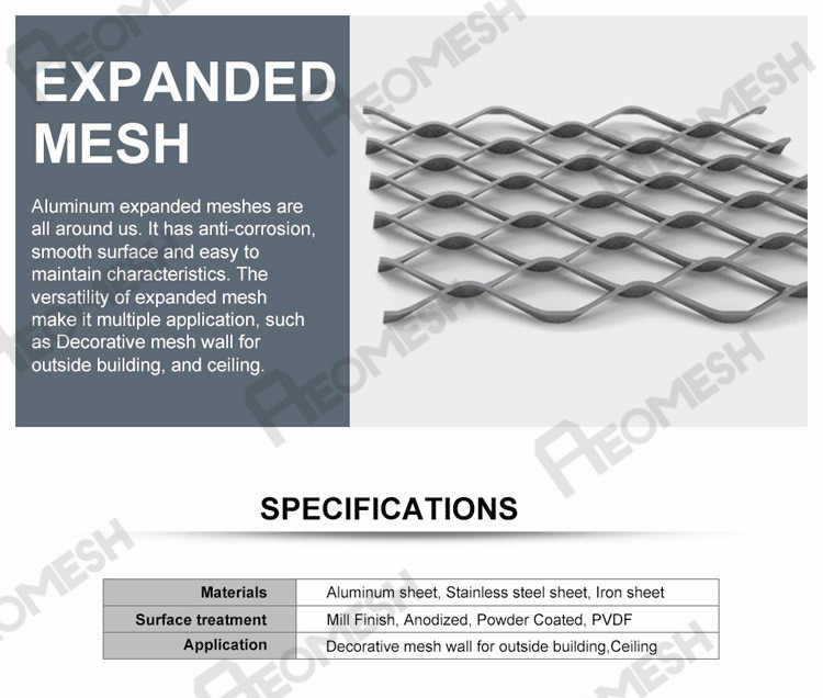 Made in Guangzhou Professional Factory Expanded Aluminum Mesh