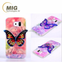 new Colorful 3D Blu ray Butterfly tpu Phone Case For samsung note 3 case