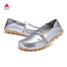 Factory Directly Sell New Design Genuine Leather Plus Size Slip On Loafers Low Price Hot Sale RB Outsole Breathable Casual Shoes