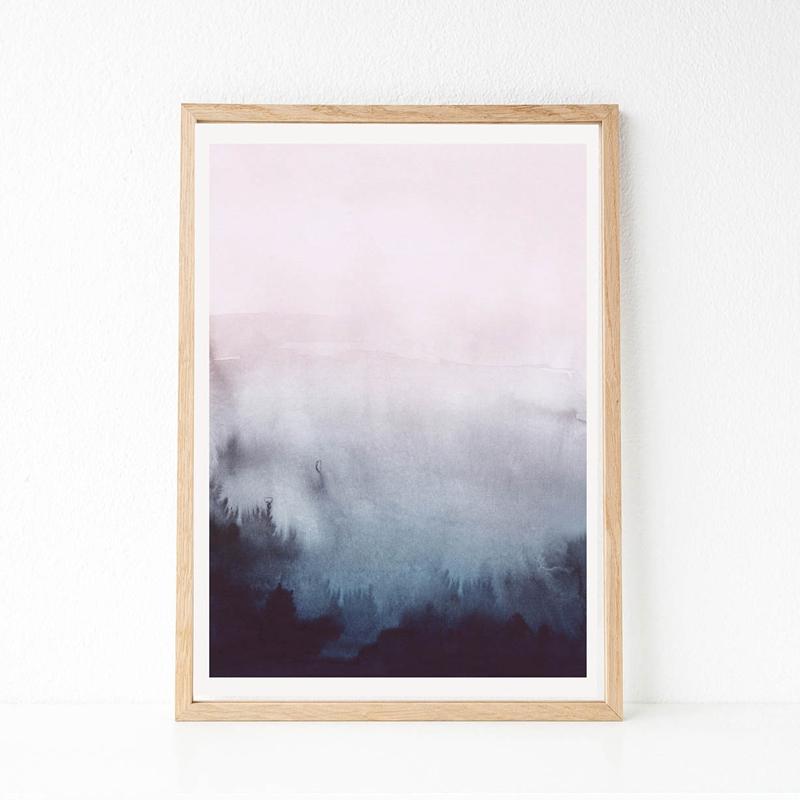 Abstrakte Kunst Leinwand Malerei Moderne Wand Bild, aquarell Pastell ...