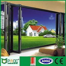 Aluminium alloy bi fold door with double tempered glazing with AS2047/AS1288 certificates