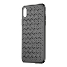 Baseus ultra thin case for iPhone X 10 cases grid weaveing thin soft BV Protective Case for iPhone X luxury Smooth Matte cover