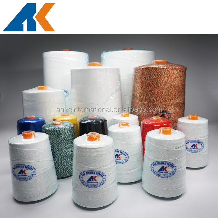 100% Polyester Bag Closing Thread For Bag Closing Machine