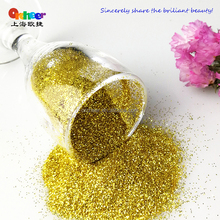 Gold solvents resistant series glitter powder, jincong for cosmetics of nail polish,eye shadow