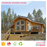Prefab Two-story Villa Solid Wooden Log House High Quality Made in China KPL-039