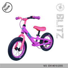 12 inch two wheel toddler aluminium balance bike