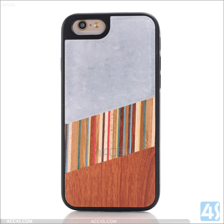 Ultra Slim mobile phones cases TPU marble lines wood case cover for Iphone 6s
