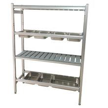 Adjustable aluminium GN pan containers shelving kitchen <strong>shelf</strong>