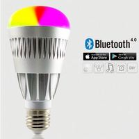 Phone Control Colorful Music LED Light Bulb Bluetooth Speaker 2 IN 1 Portable Music Smart Bubble Lamp 5W for IOS & Android
