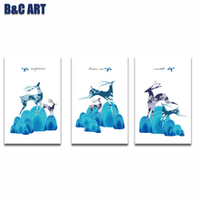 3 Panel Wall Pictures Animals Canvas Prints Wall Art For Decoration