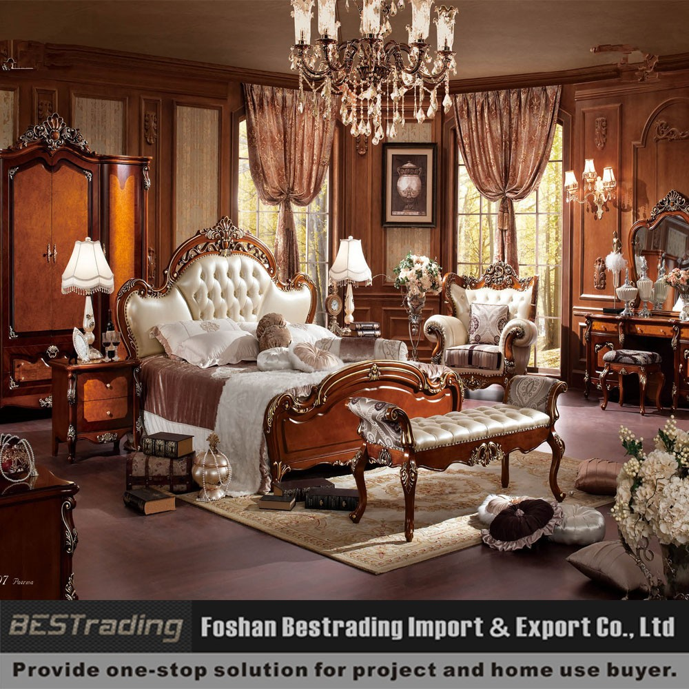 White leather bed antique leather bed bedroom furniture