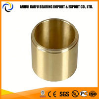 High performance copper alloy sleeve and flange bushing